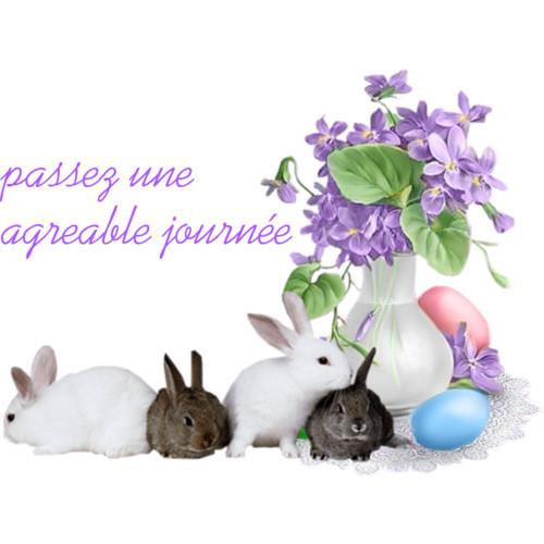 Joyeuses Pâques : créa de mon amie Zezette