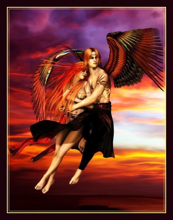 Ange-gardien : crea de mon amie Roseric