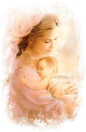 La Vierge-Marie et l'enfant Jésus