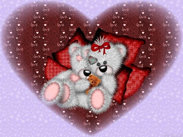 Coeur oursons wallpaper fond d 39 cran image photo - Image de coeur damour ...