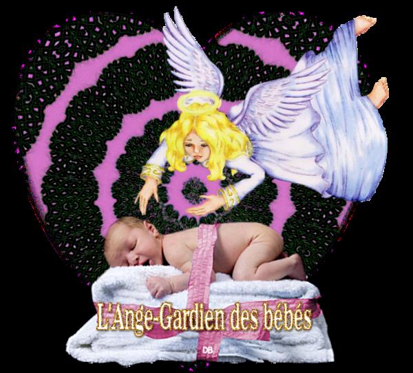 L'Ange-Gardien des bébés dans un coeur : kdo pour vous