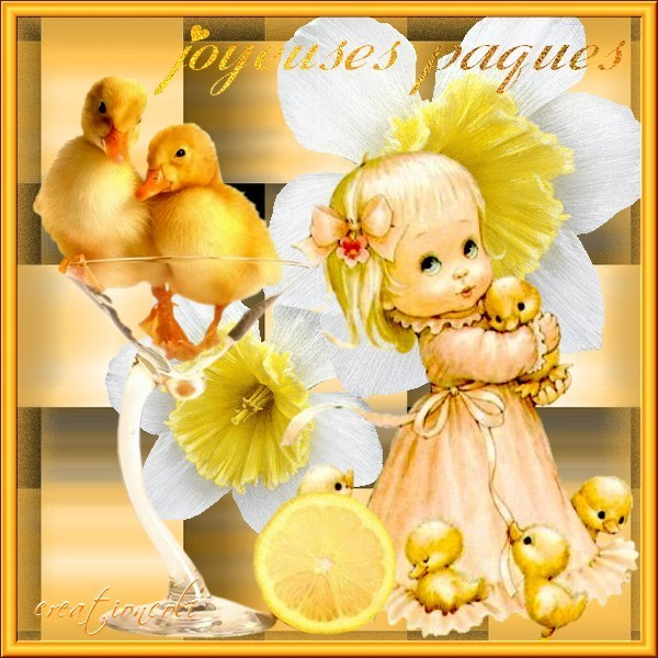 Joyeuses Pâques : créa de mon amie Martine