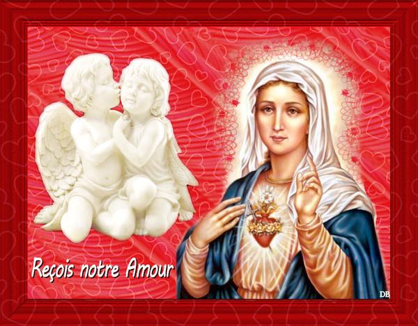 La Vierge-Marie et les Anges : Reçois notre Amour