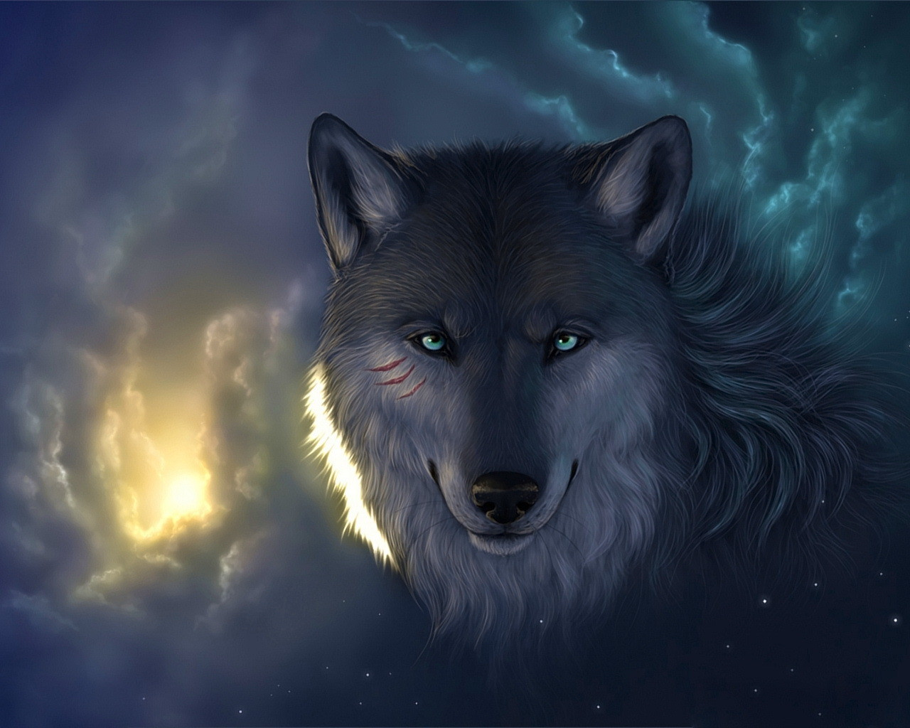 wallpaper loup fond - photo #8