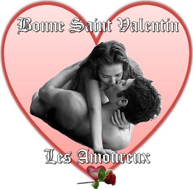 Bonne saint valentin les amoureux dans un coeur - Un coeur amoureux ...