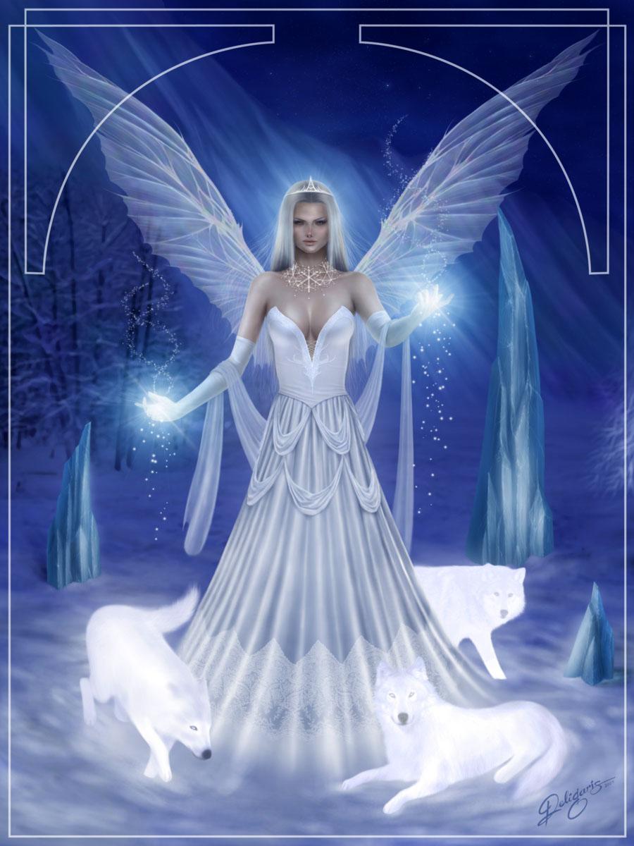 snow angel wallpaper cartoon - photo #27